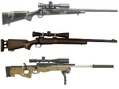 Сверху вниз: M40, M24 и MK13