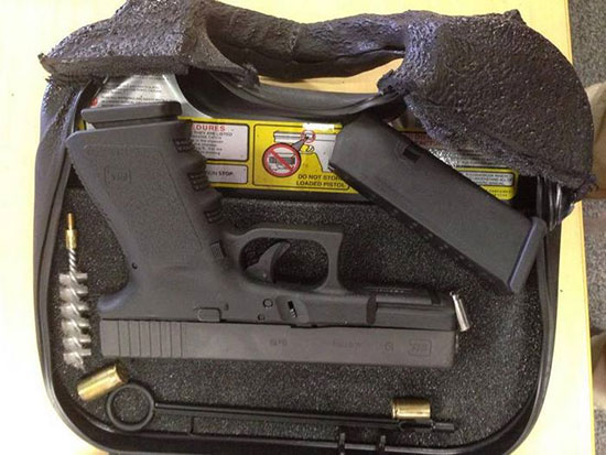 Glock 19 в футляре после пожара
