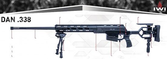 снайперская винтовка .338 Lapua «DAN»
