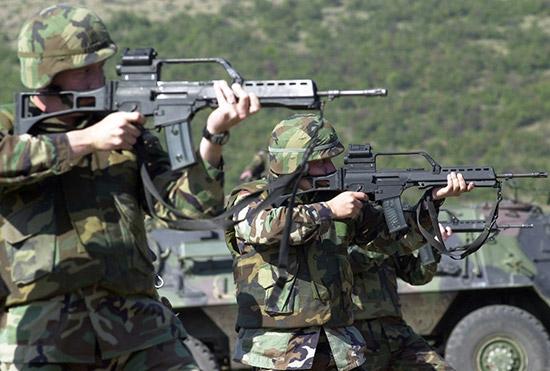 Штурмовая винтовка G-36 на вооружении армии ФРГ
