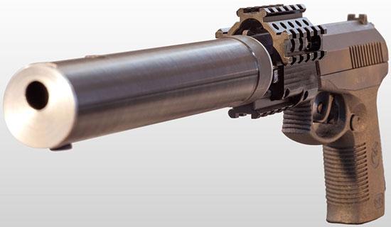 Пистолет СР-1МП «Гюрза» со специальным модулем с планками Пиккатини