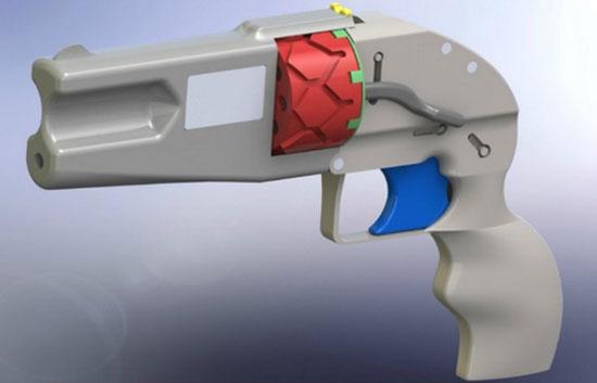 Напечатанный на 3D-принтере револьвер Йошимото Имуры