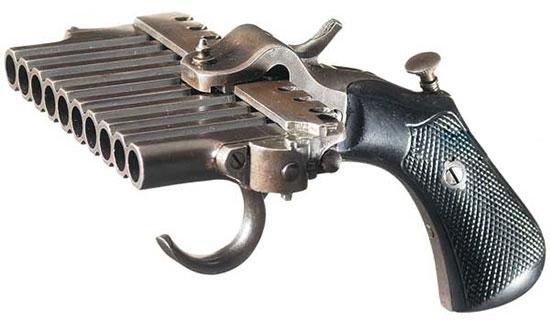 пистолет Harmonica с десятью стволами