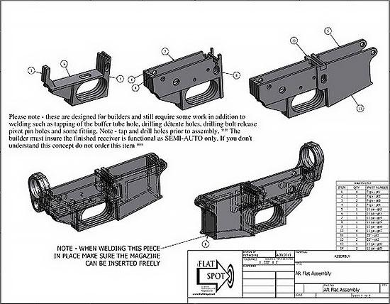 ствольная коробка AR-15 от компании Flat Spot