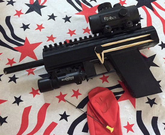 3D Printable Poison Dart Pistol
