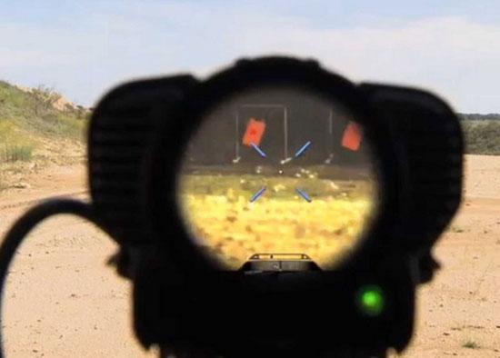 Вид через прицел Tracking Point