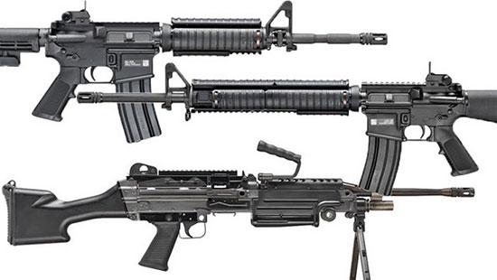 Винтовки M16, M4 и пулемет M249