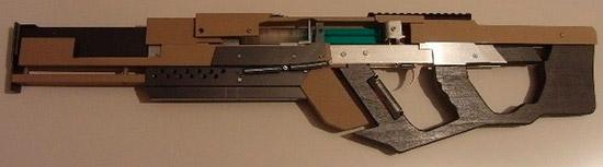 Многозарядная пневматическая винтовка в стиле киберпанк
