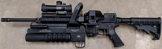 Пулемёт с подствольным гранатомётом на базе винтовки M&P-15 Sport II