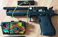 Прототип пистолета с датчиком приближения
