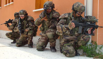 Французские солдаты в экипировке FELIN