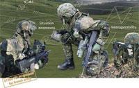 Комплекс индивидуальной экипировки пехотинца FELIN (Fantassin a Equipements et Liaisons Integres, Интегрированные оборудование и средства связи пехотинца) был разработан французской компанией Sagem (входит в группу Safran)