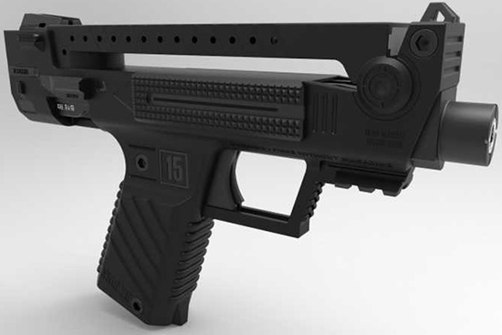 Футуристический буллпап пистолет от компании Tecnostudio Engineering