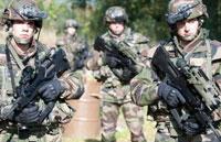 Бойцы 1-го пехотного полка в экипировке FELIN