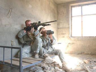 Снайперская команда Армии США в Афганистане