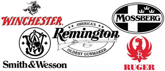 Smith&Wesson, Winchester, Ruger, Remington, Mossberg