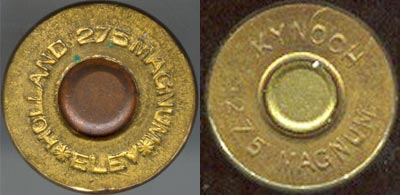 .275 Holland & Holland Belted Magnum (слева) .275 Holland & Holland Flanged Magnum (справа)