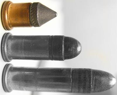 .22 BB Cap, .22 Short, .22 LR (сверху-вниз)