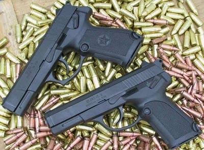 QSZ-92 9-мм (сверху) QSZ-92 5,8-мм (снизу)