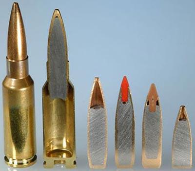 6.5x38 Grendel com balas de peso de 9.3 a 5.8 gramas