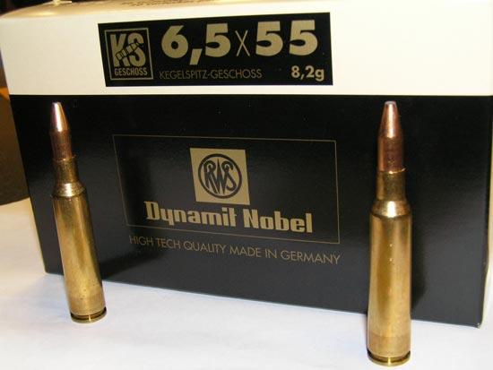 патроны 6,5x55 выпускаемые в Германии