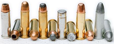 .38 Special с пулями различного типа