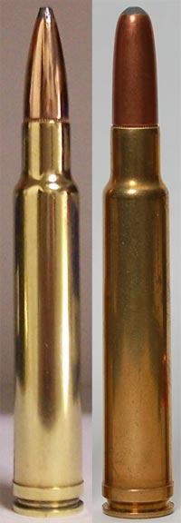 .340 Weatherby Magnum с остроконечной пулей и пулей с закругленной вершиной