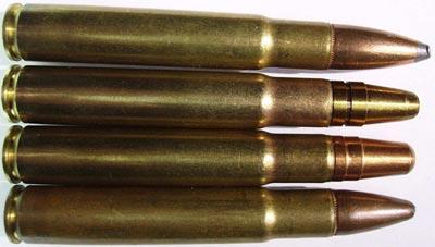 .35 Whelen оснащенные различными пулями