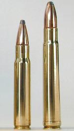 .376 Steyr (слева) .375 Н&Н Mag (справа)