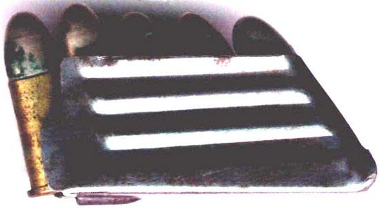 Патроны 7.7x17 R Bittner снаряженные в магазин пистолета Биттнера