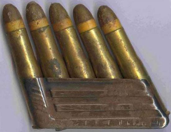Патроны 11.15x58 мм в обойме для винтовки Манлихера