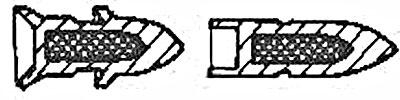 снаряд 28/20x188 до выстрела (слева) и после выстрела (справа)