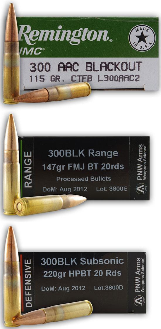 .300 AAC Blackout от разных производителей и снаряженные пулями разной массы