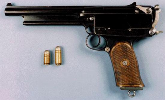 Пистолет «Mars» с патронами .450 Mars Short и .450 Mars Long
