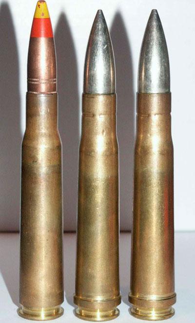.50 BMG - слева (один) и .55 Boys справа (два)