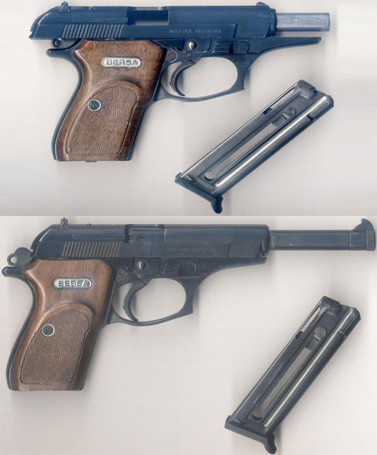 Bersa Mod 223 DA (сверху) и Bersa Mod 226 DA (снизу)
