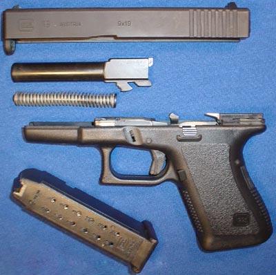Glock 19 неполная разборка