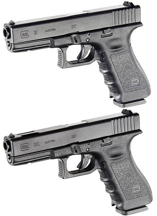 Glock 31 (сверху) и Glock 31C (снизу)
