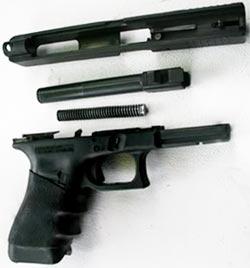 Glock 35 неполная разборка