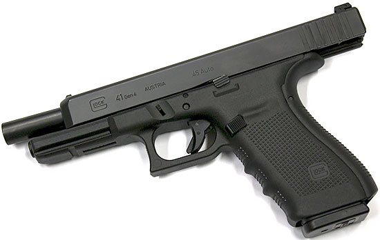 Glock 41 на затворной задержке