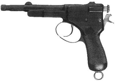 пистолет Krnka, проходивший в 1898 году испытания в Швейцарии