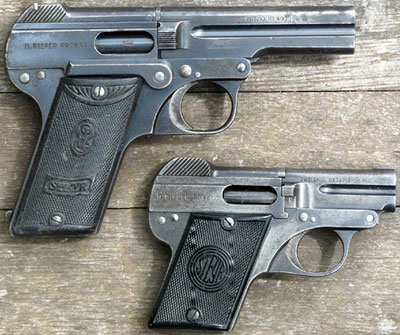 Steyr-Pieper M1908 (сверху) Steyr-Pieper M1909 (снизу)