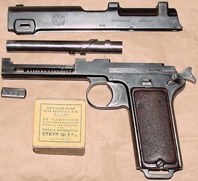 Steyr M1911 неполная разборка