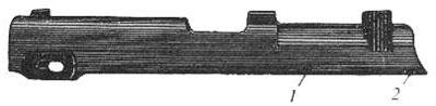 Кожух-затвор Steyr M1912: 1 - выем; 2 - выступ