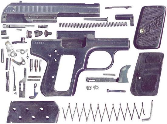 Bayard 1908 детали пистолета
