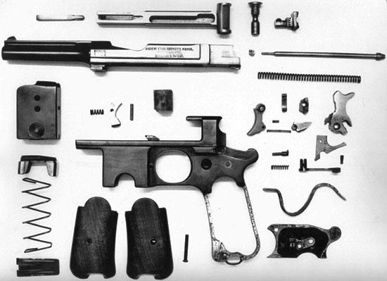 Bergmann Bayard M 1910 детали пистолета