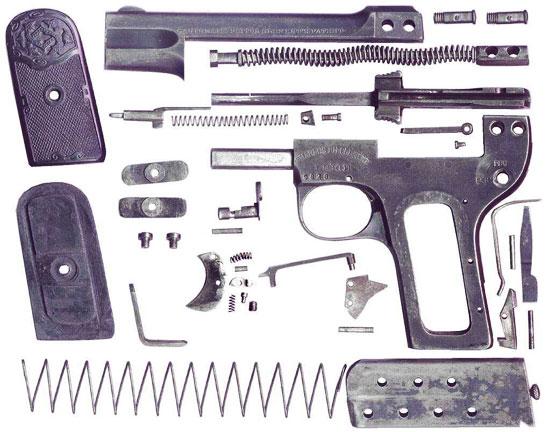Clement M 1903 калибра 6.35 мм детали пистолета