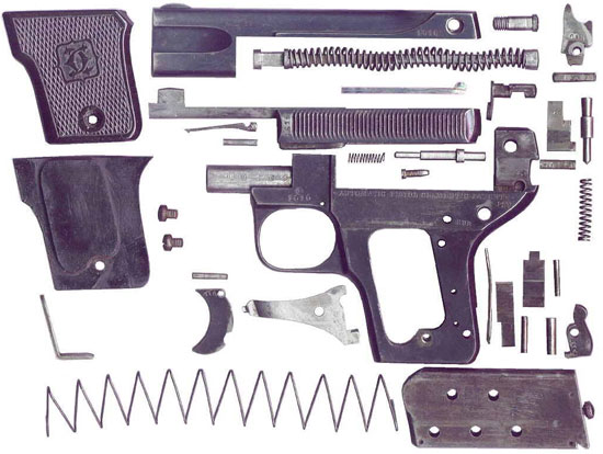 Clement M 1907 детали пистолета