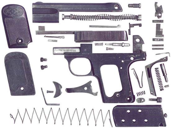 Clement M 1908 детали пистолета