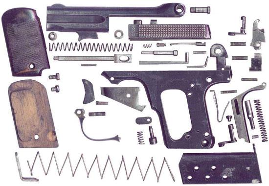 Clement M 1909 детали пистолета